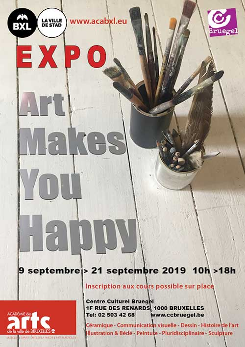 Affiche expo 2 Art makes you happy