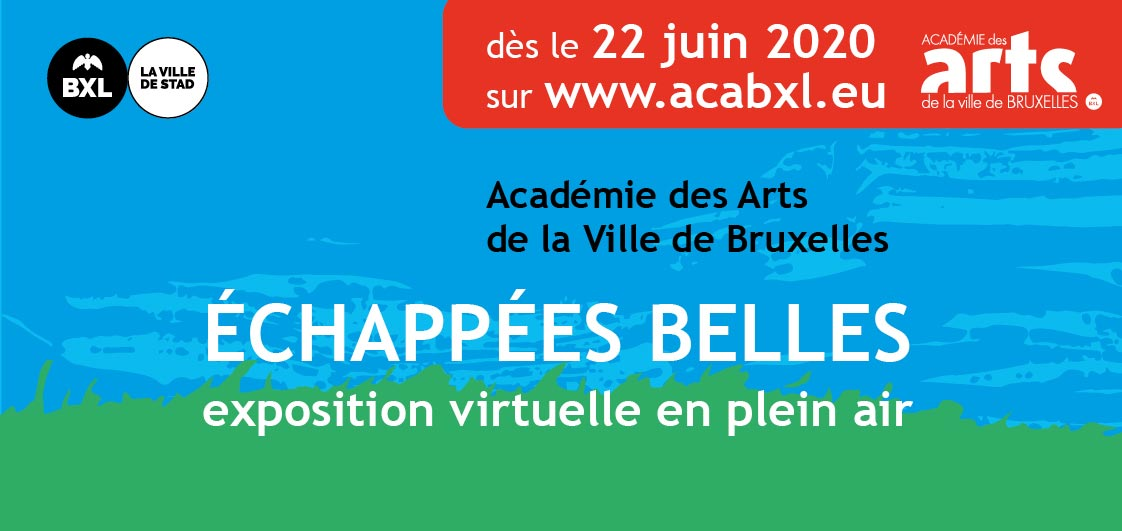Flyer expo virtuelle Académie des Arts Bruxelles